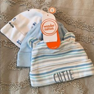 3 pack of Baby Boy Hats
